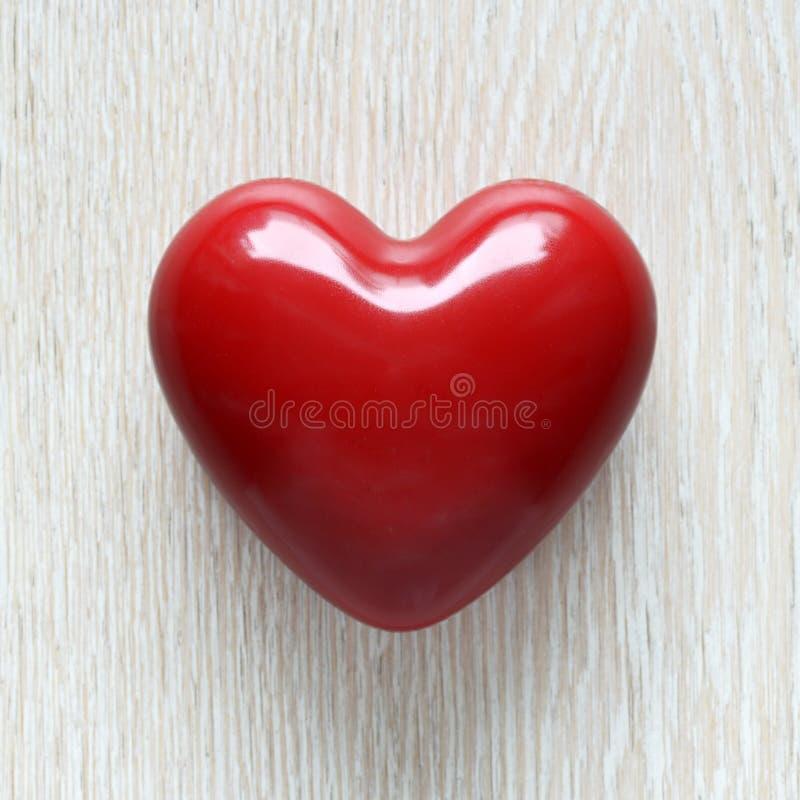 Coração vermelho da cera foto de stock