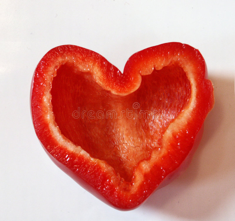 Coração vermelho da paprika fotos de stock royalty free