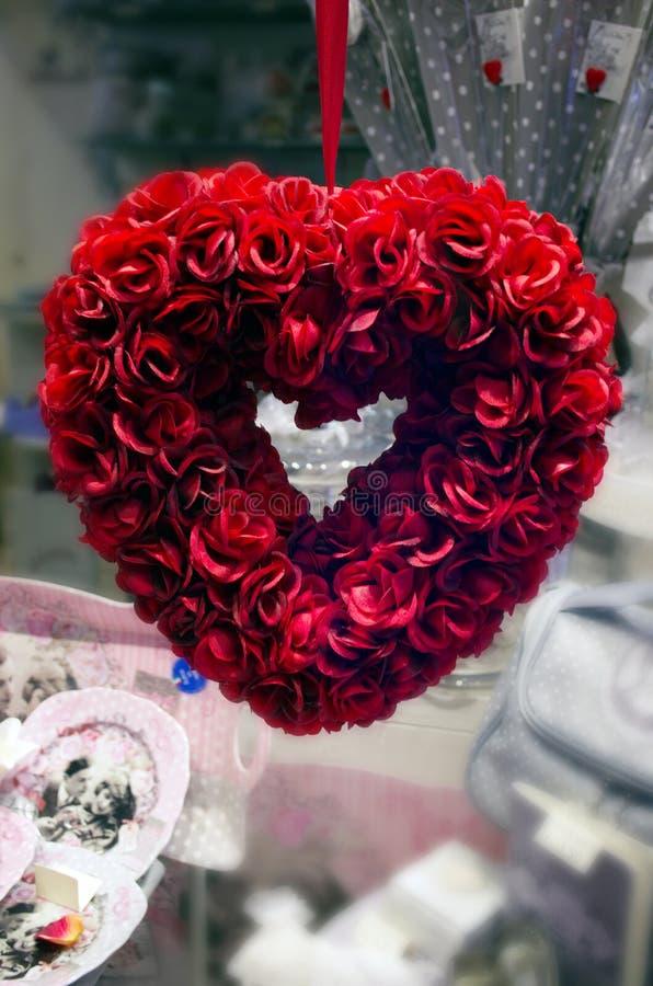 Coração vermelho das rosas imagens de stock royalty free