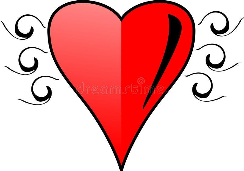 Coração vermelho de Clipart fotografia de stock