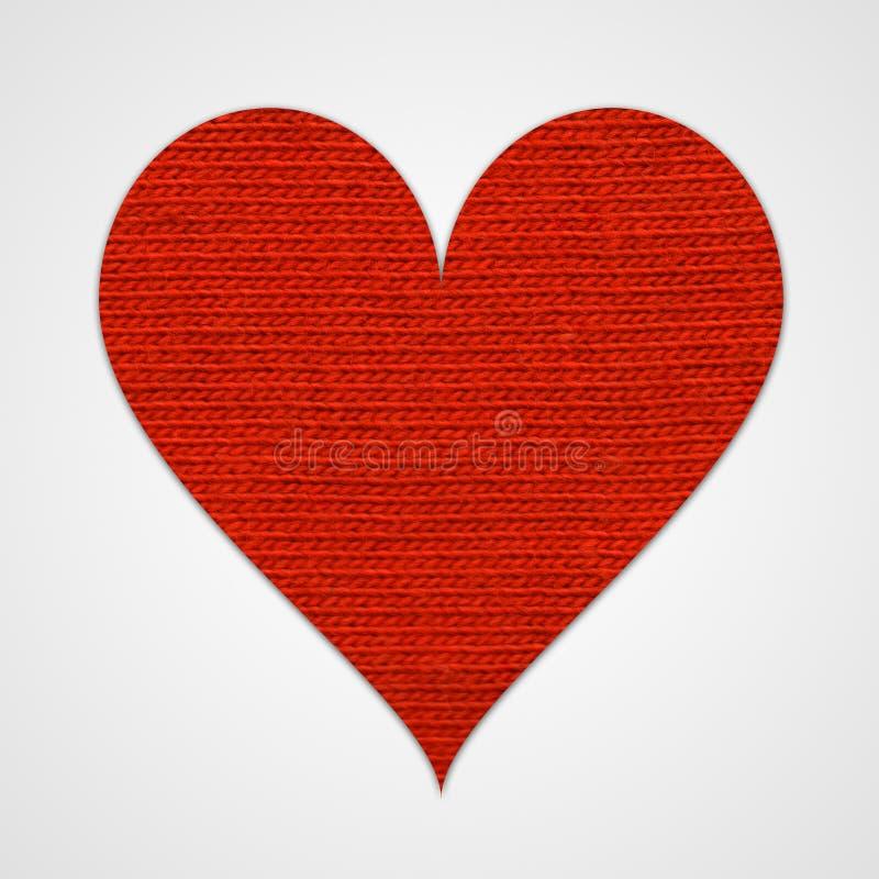 Coração vermelho do algodão
