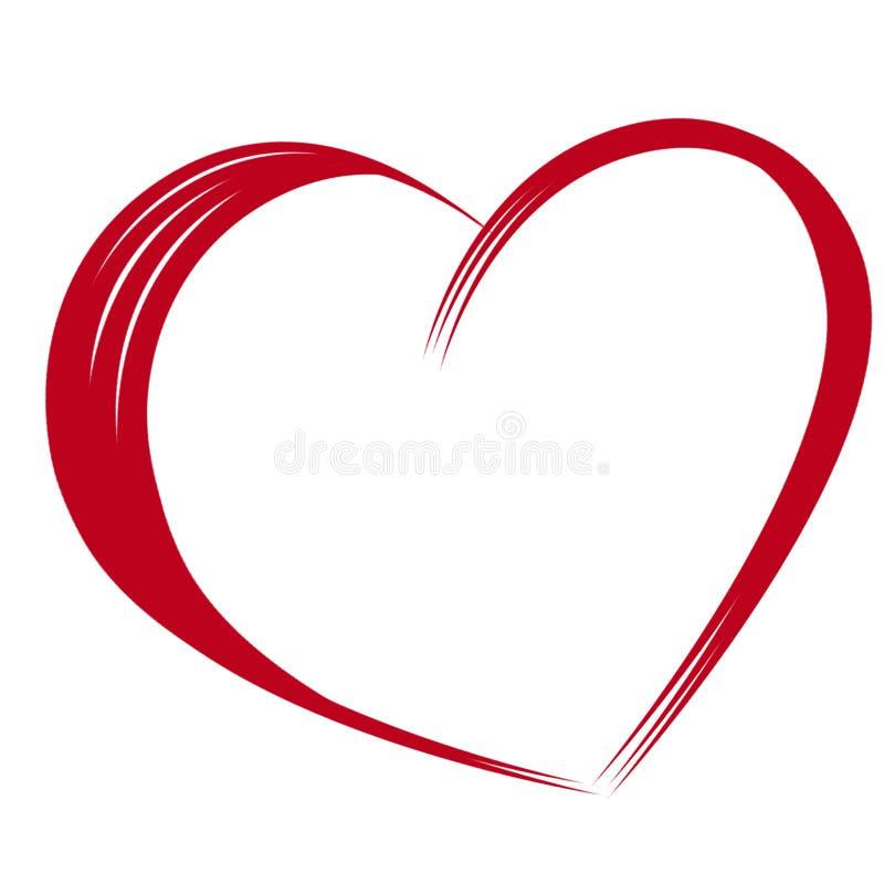 Coração vermelho do amor fotos de stock