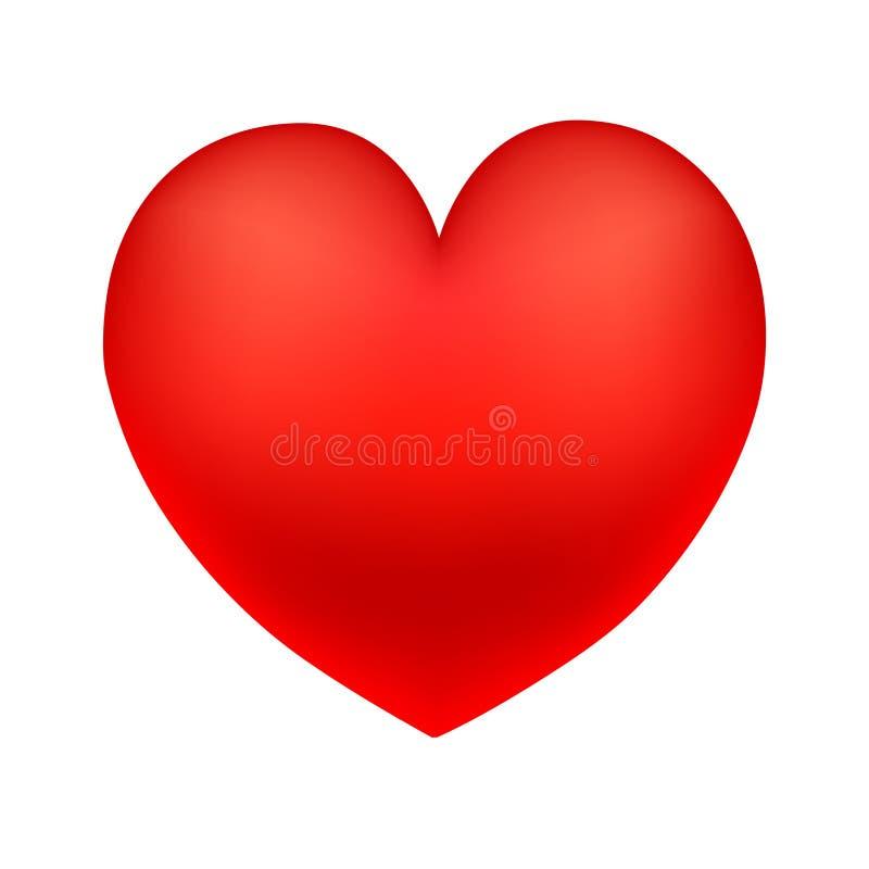 Coração vermelho grande ilustração stock