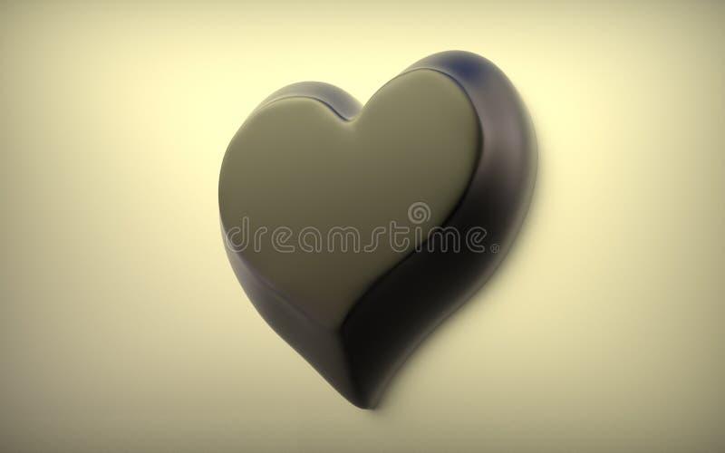 Coração vermelho no fundo claro imagens de stock