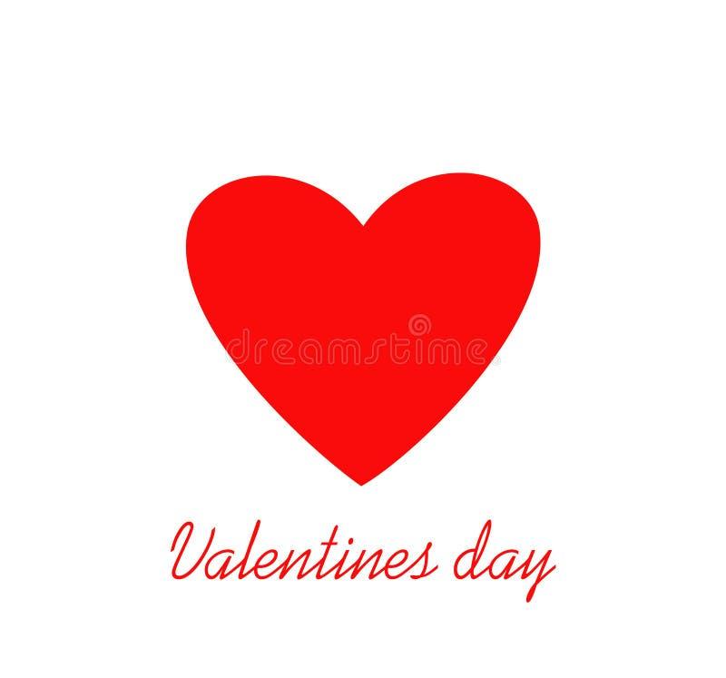 Coração vermelho para o dia do ` s do Valentim Conceito de projeto creativo Ilustração do vetor Copie o espaço para o texto ilustração do vetor