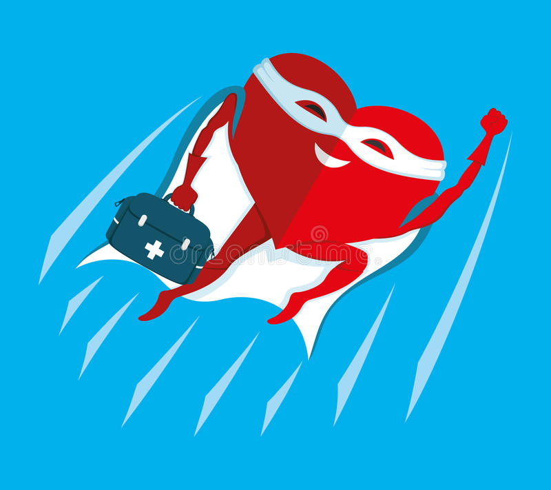 Coração vermelho super ilustração royalty free