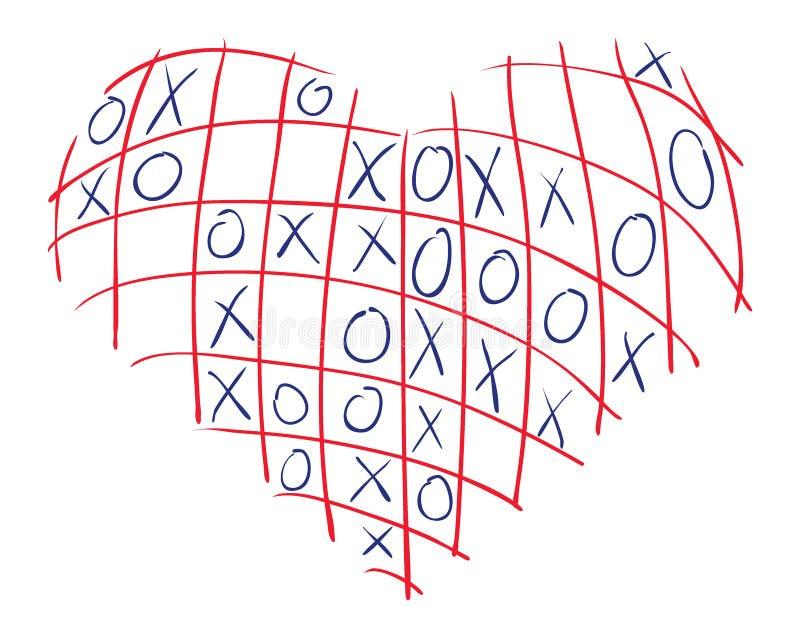 Coração XO ilustração stock