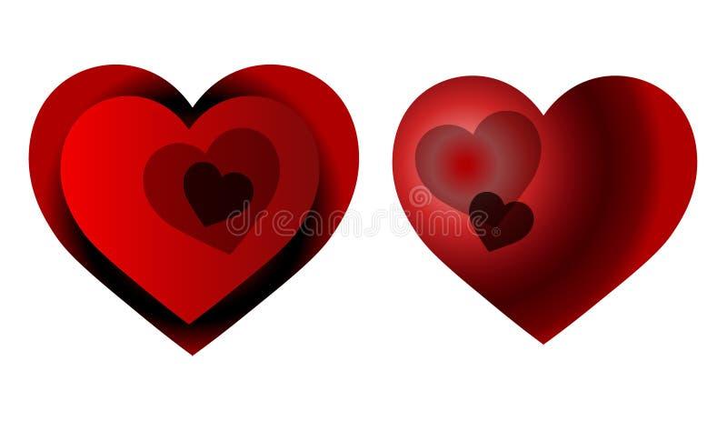 Corações à moda para o assunto quente do amor foto de stock