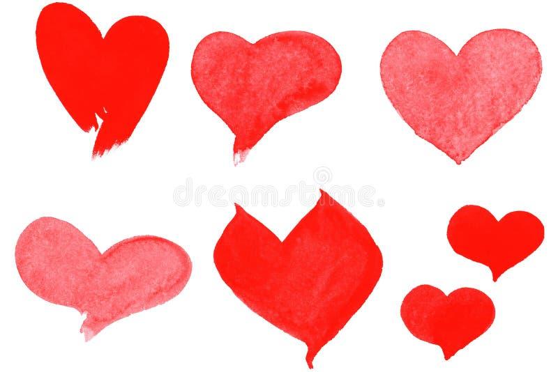 Corações ajustados ilustração royalty free