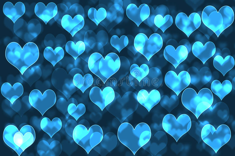 Corações azuis ilustração stock