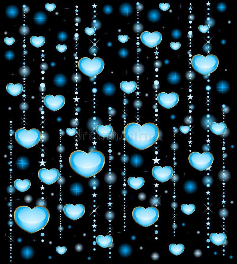 Corações bonitos ilustração royalty free