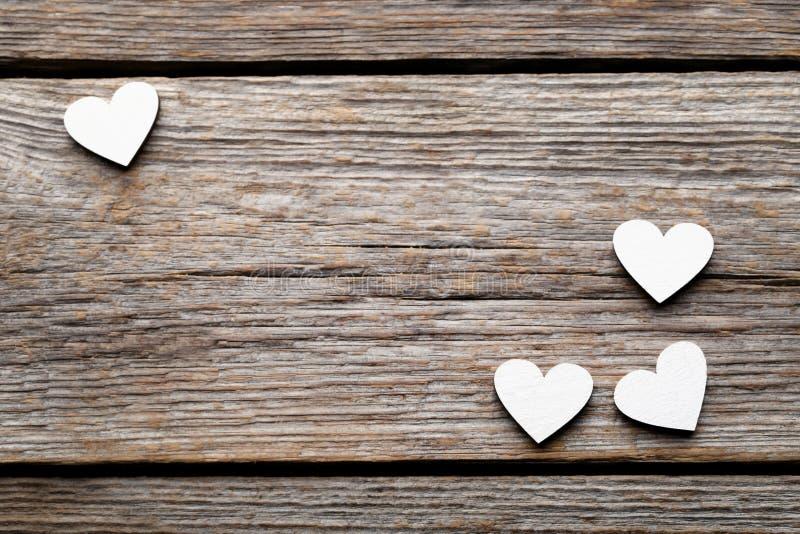 Corações brancos fotos de stock