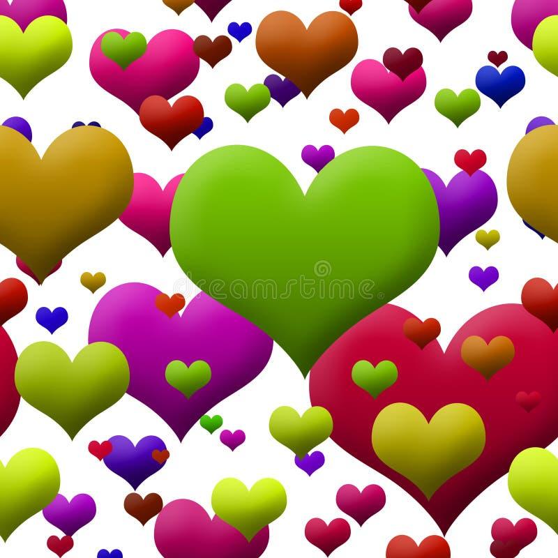 Corações brilhantemente coloridos fotografia de stock