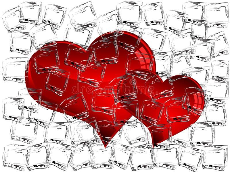 Corações congelados ilustração stock