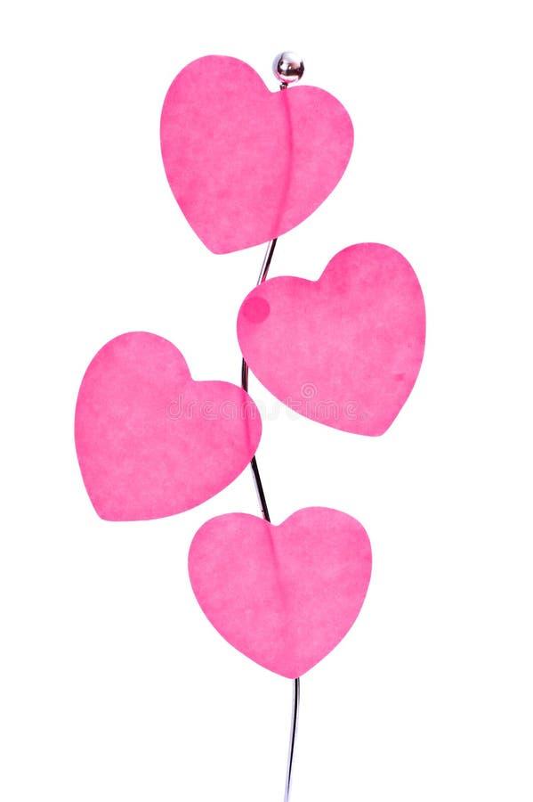 Download Corações cor-de-rosa imagem de stock. Imagem de de, scrapbook - 12807037