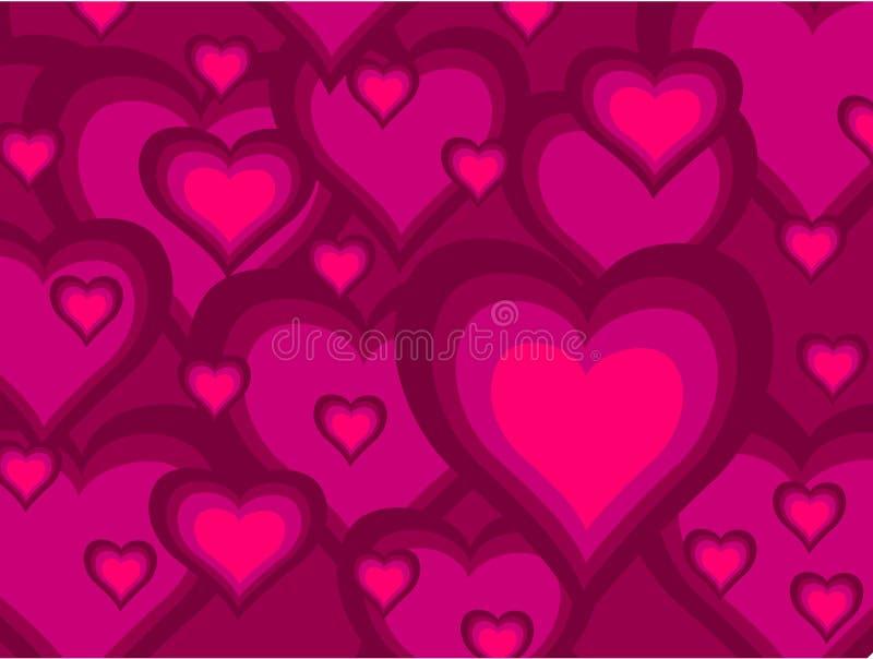Corações cor-de-rosa ilustração royalty free