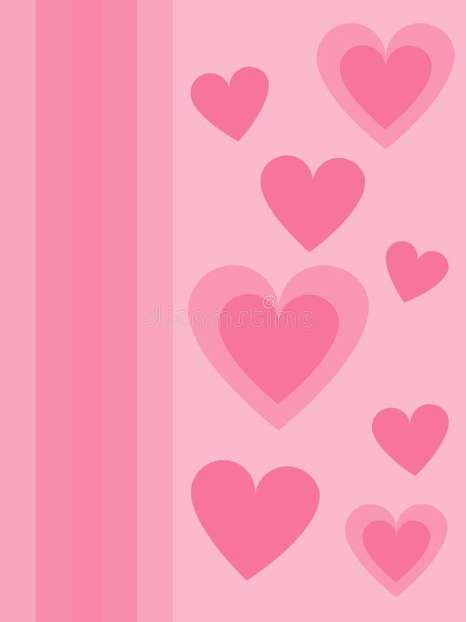 Corações cor-de-rosa imagens de stock royalty free