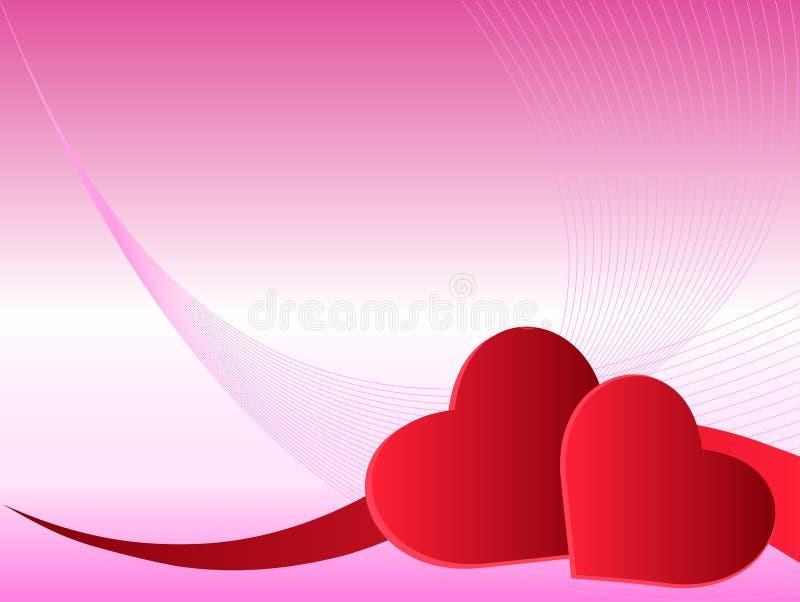 Corações cor-de-rosa ilustração do vetor