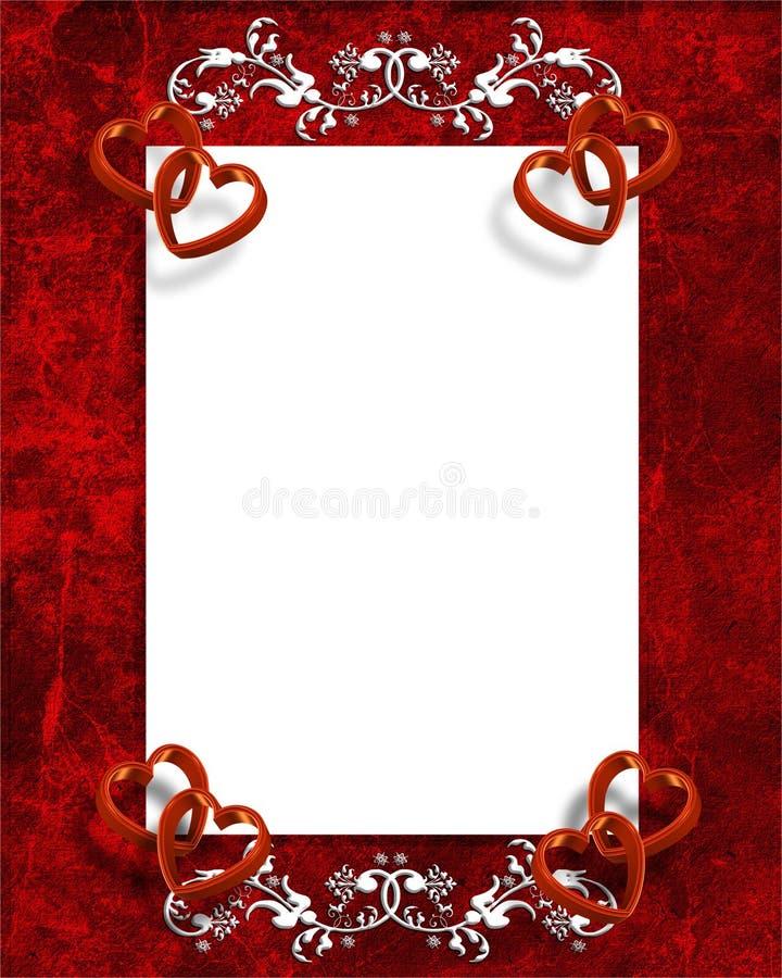 Corações da beira do dia dos Valentim ilustração do vetor