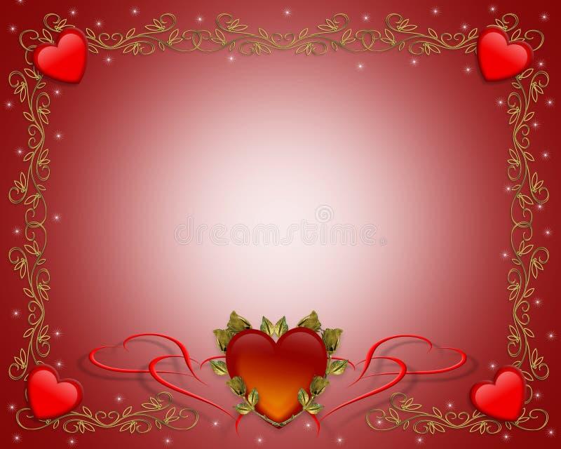 Corações da beira do Valentim ilustração royalty free