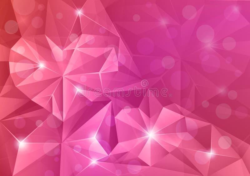 Corações de cristal. ilustração stock