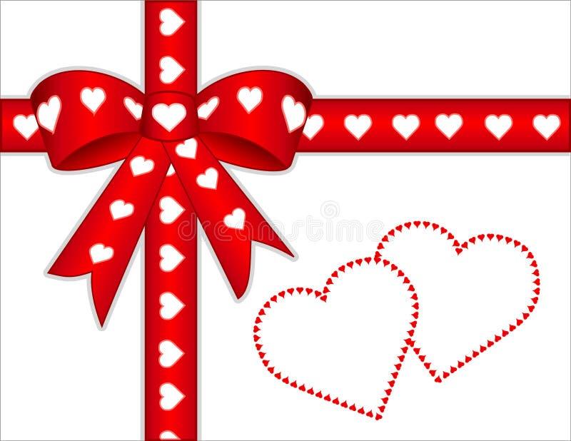 corações de +EPS a você presente ilustração stock