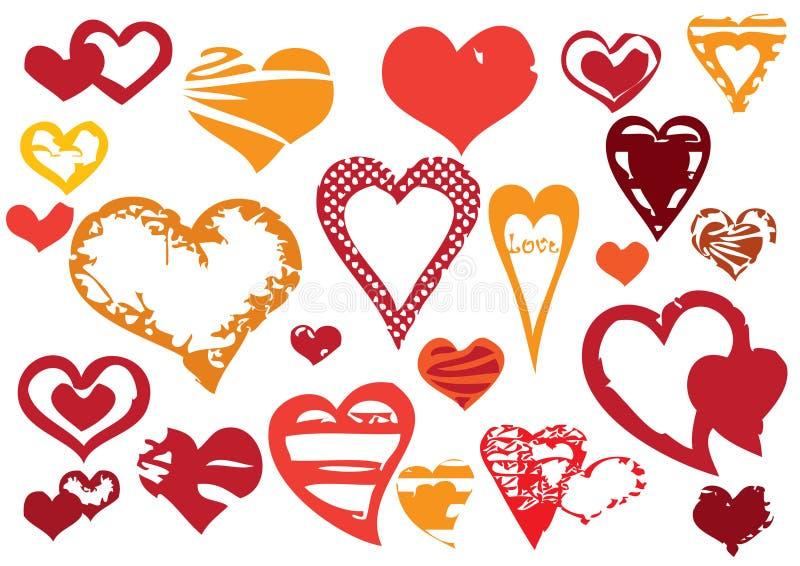 Corações de Grunge ilustração stock
