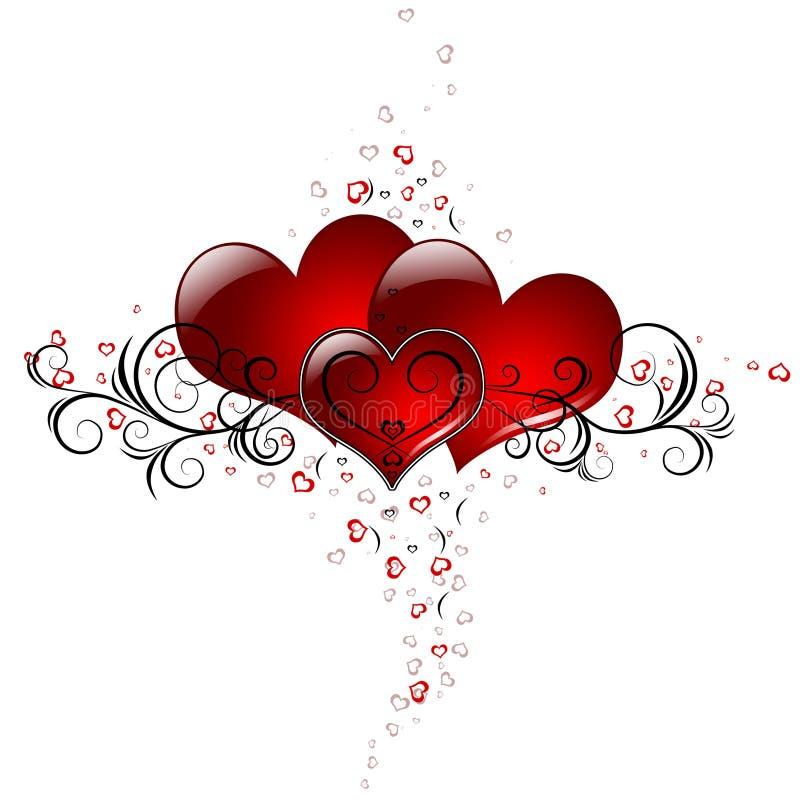 Corações de Loveing ilustração stock