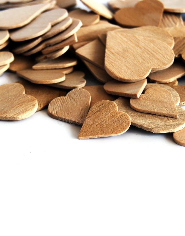 Corações de madeira foto de stock royalty free