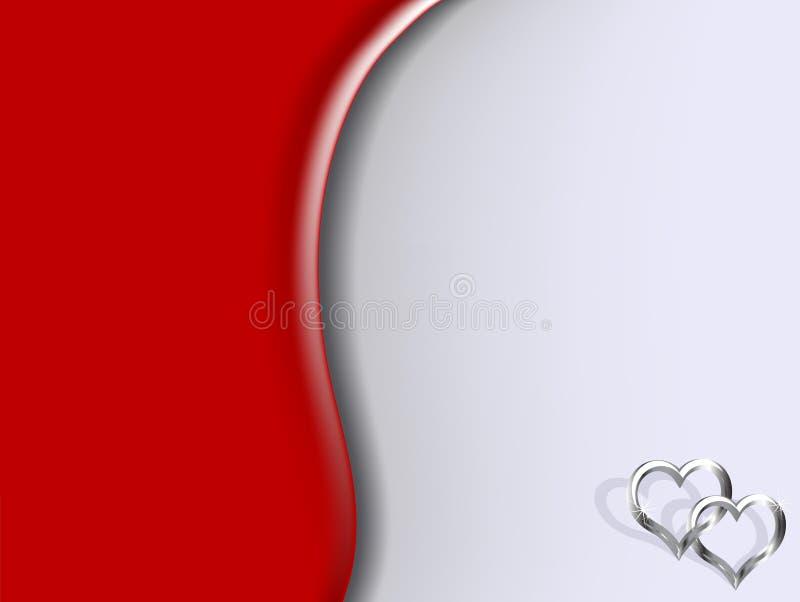 Corações de prata ilustração do vetor