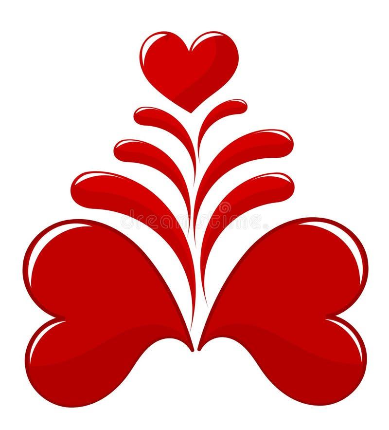 Corações de sangramento ilustração stock