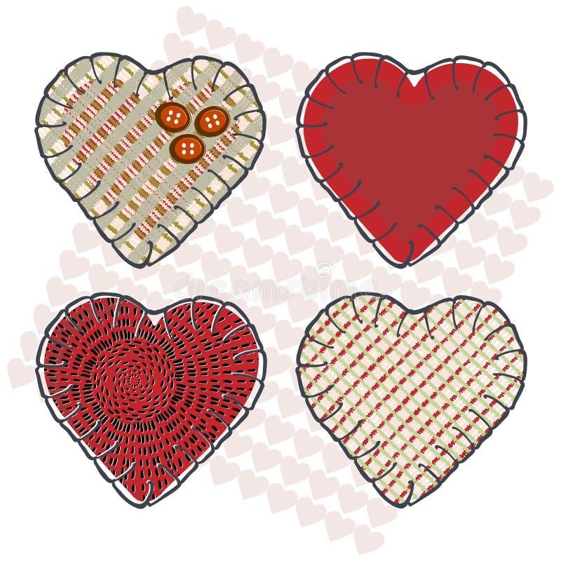 Corações de Sewin ilustração do vetor