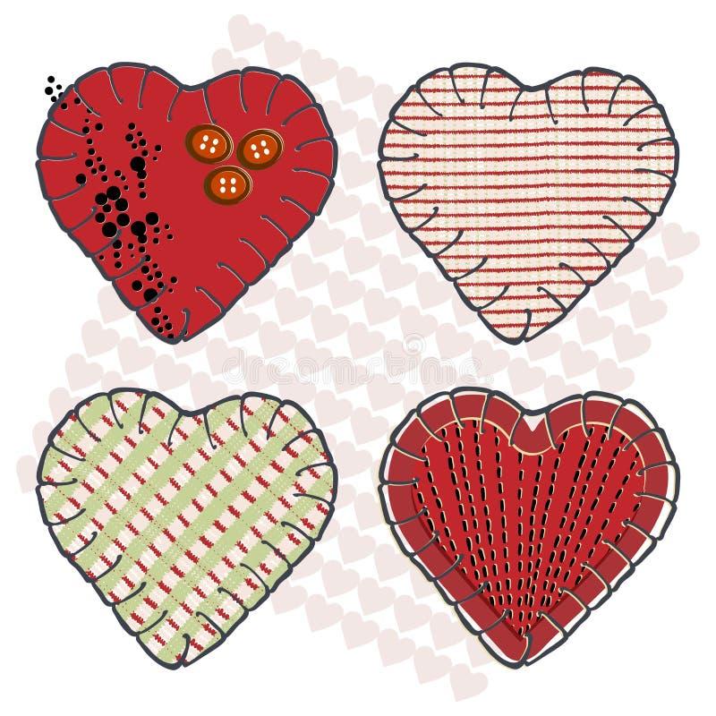 Corações de Sewin ilustração royalty free