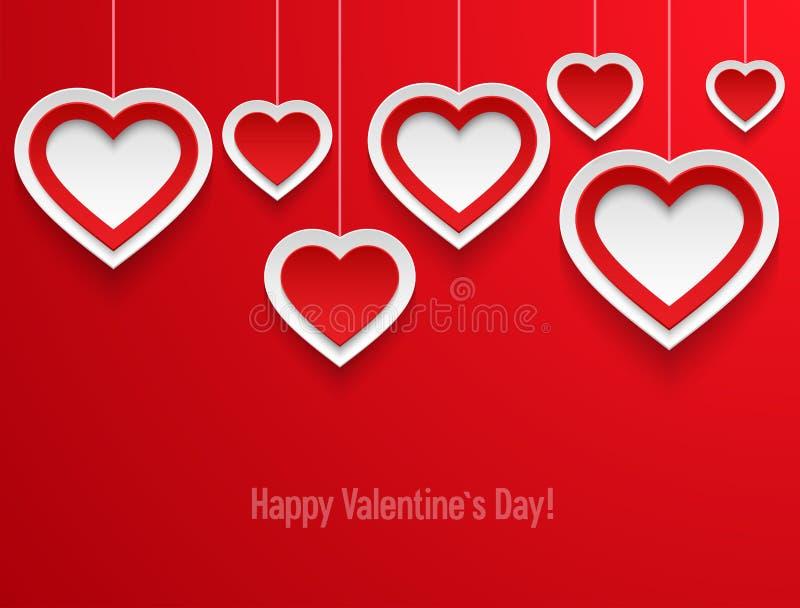 Corações de suspensão dos Valentim. ilustração royalty free
