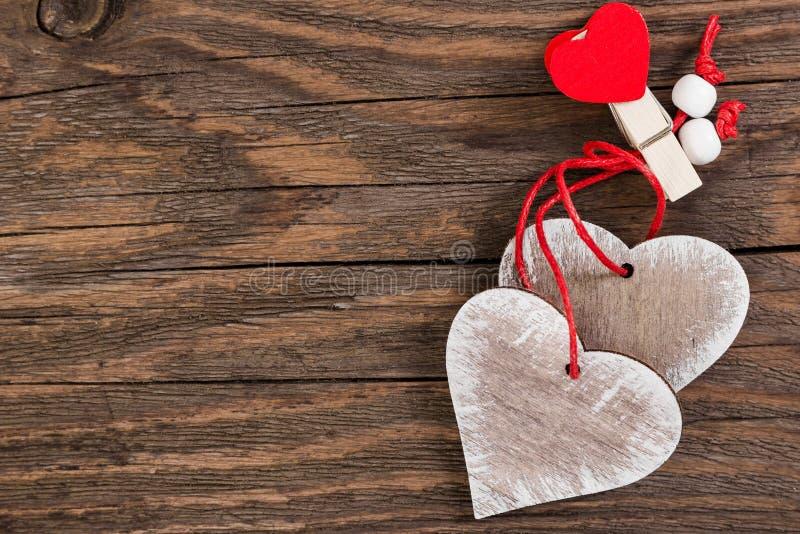 Corações decorativos no dia de Valentim fotos de stock royalty free