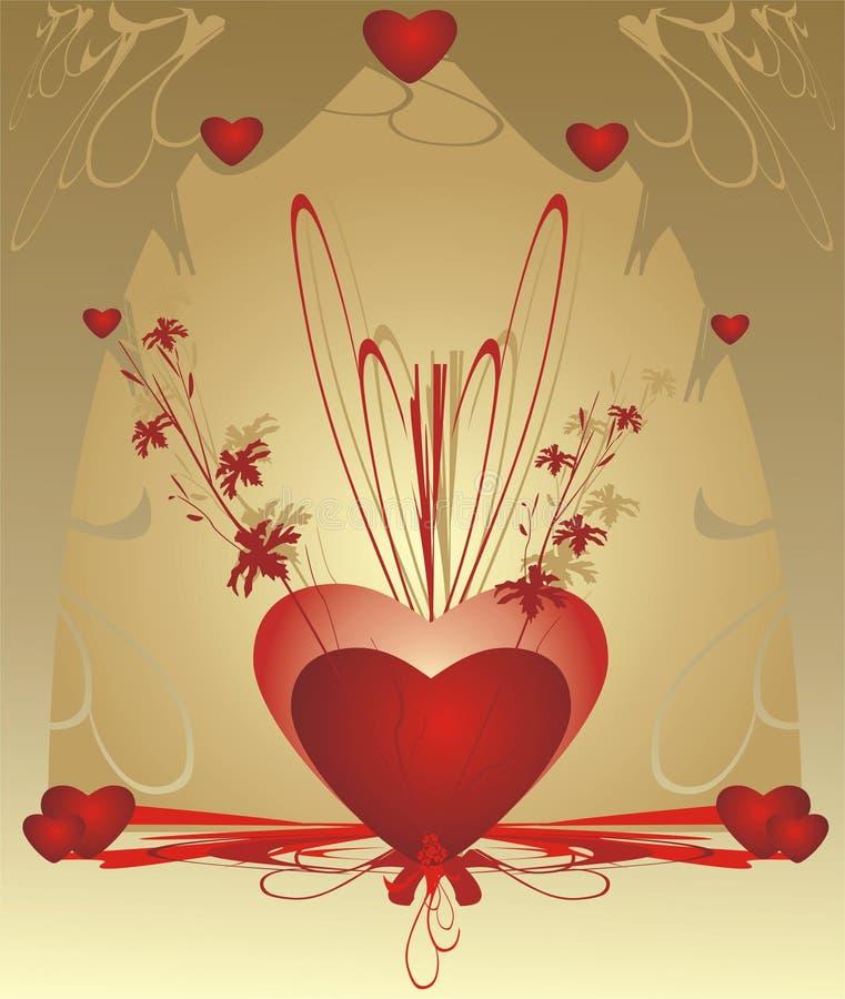Corações. Dia dos Valentim. Creativo ilustração royalty free