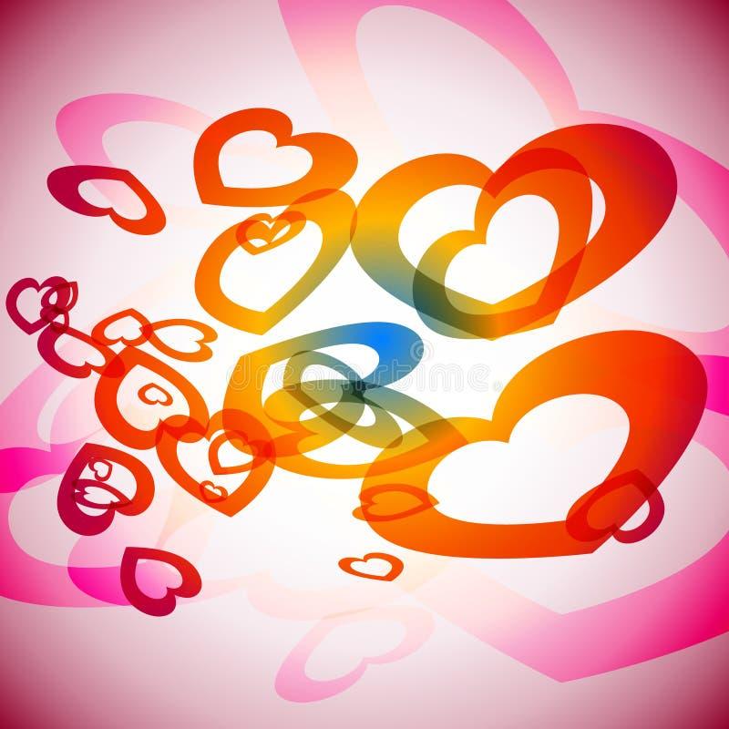 Corações do arco-íris ilustração stock