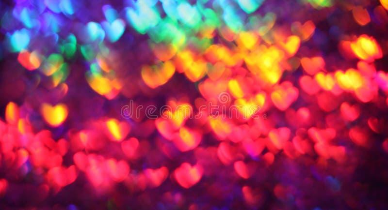 Corações do arco-íris imagens de stock