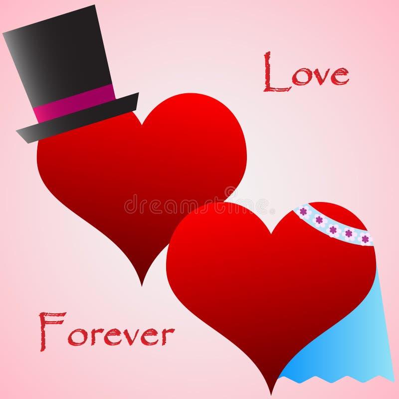 Corações Do Casamento Com Decoração Foto de Stock