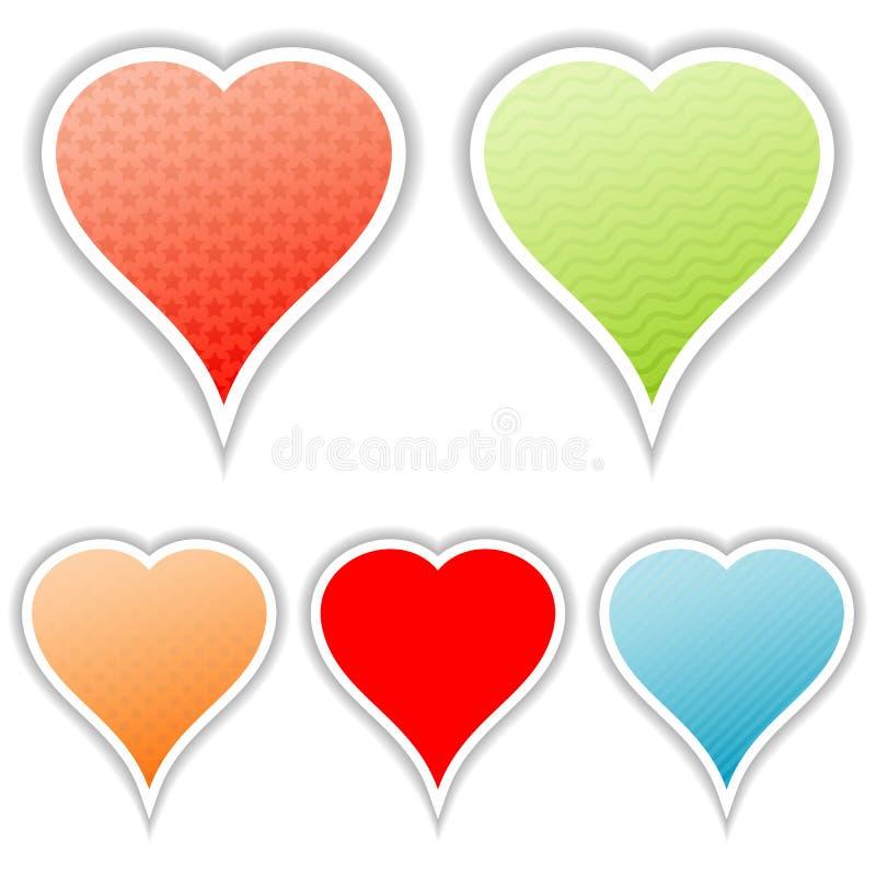 Corações do dia dos Valentim ilustração do vetor