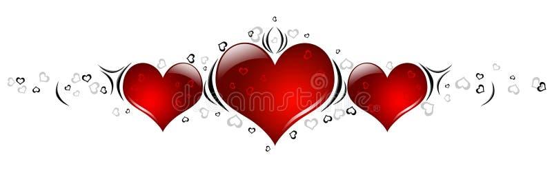 Corações do dia dos Valentim ilustração royalty free