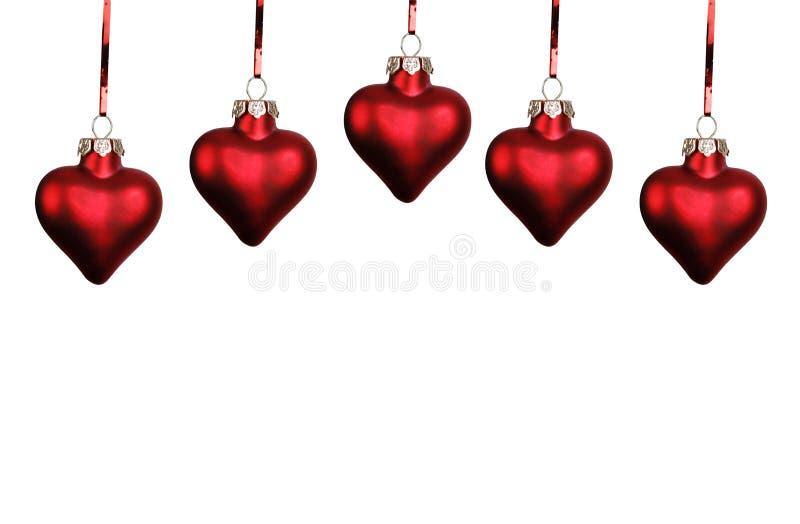 Corações do Natal foto de stock royalty free
