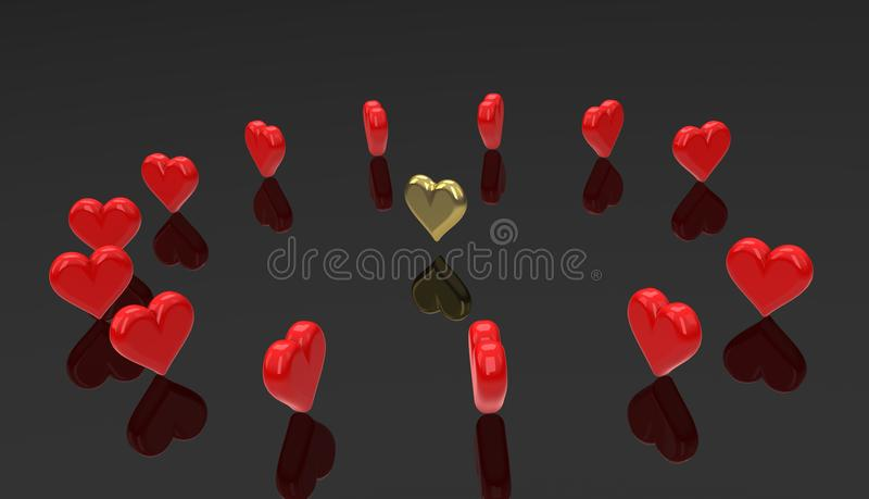 Corações do Runaround - coração da dança. ilustração royalty free