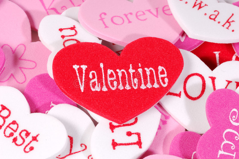Corações do Valentim foto de stock