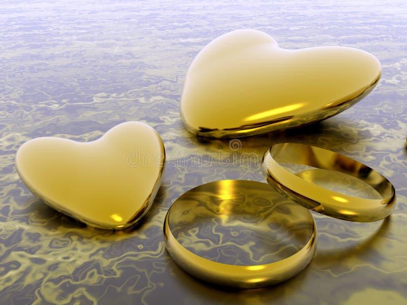 Corações do Valentim, amor do feriado. ilustração royalty free