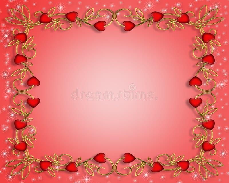 Corações do vermelho do dia dos Valentim ilustração stock
