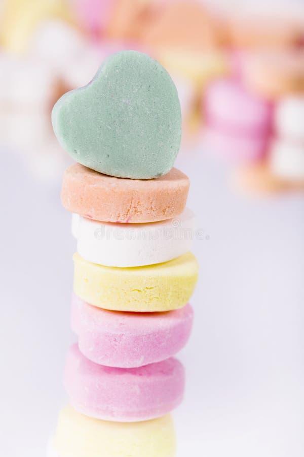 Corações dos doces imagem de stock