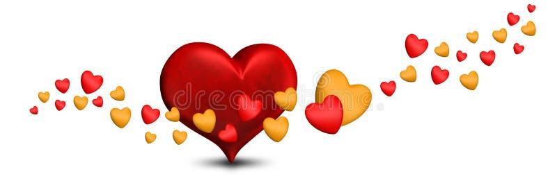 Corações dos Valentim do dia de Valentim ilustração stock