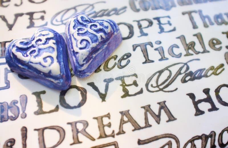 Corações e amor fotografia de stock