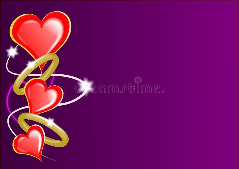 Corações e anéis dos Valentim ilustração stock